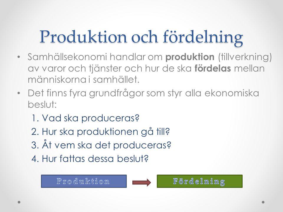 Produktion och fördelning