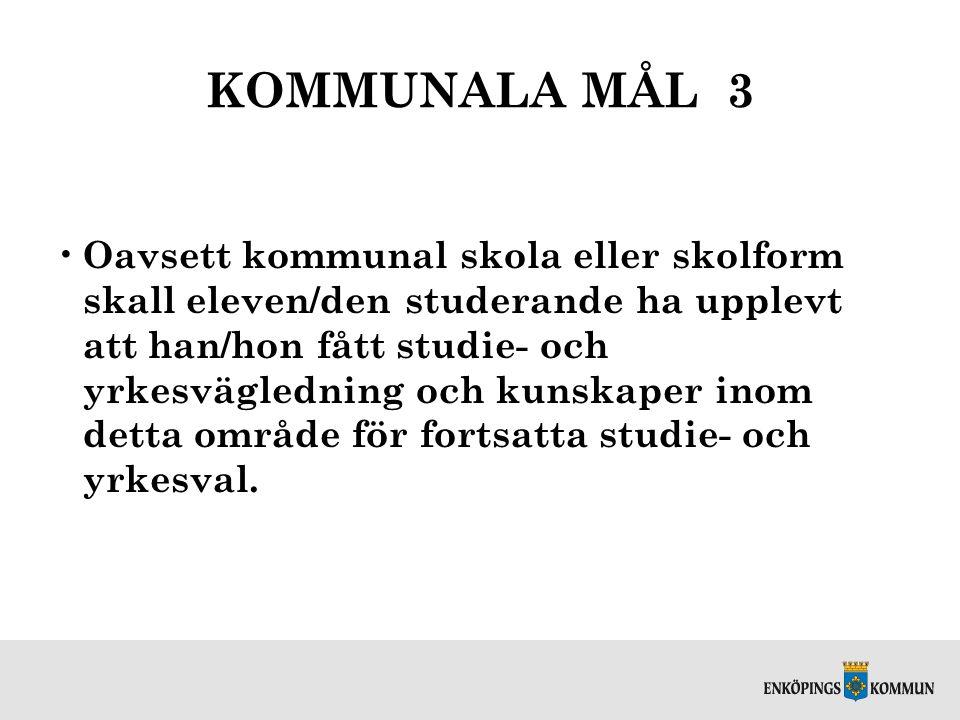 KOMMUNALA MÅL 3