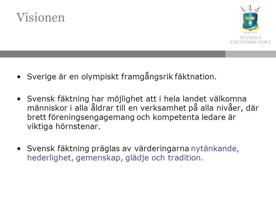 Visionen Sverige är en olympiskt framgångsrik fäktnation.
