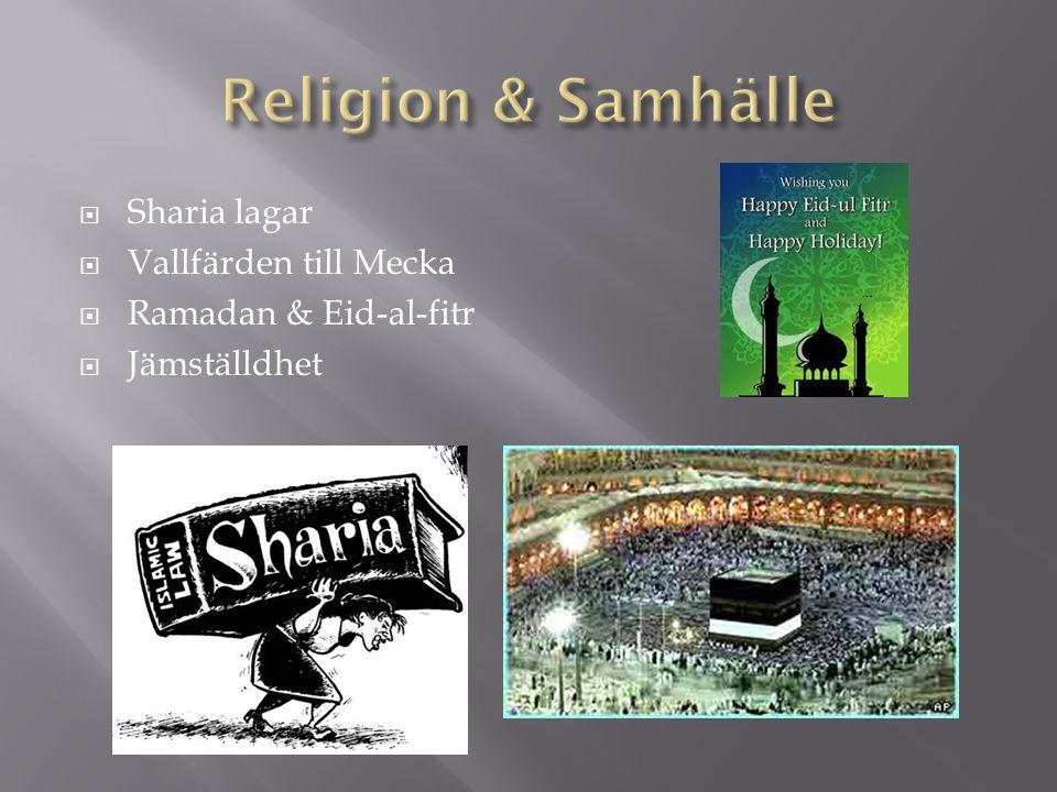 Religion & Samhälle Sharia lagar Vallfärden till Mecka