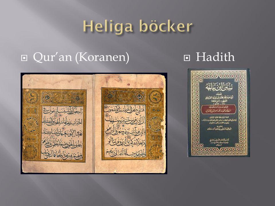 Heliga böcker Qur'an (Koranen) Hadith