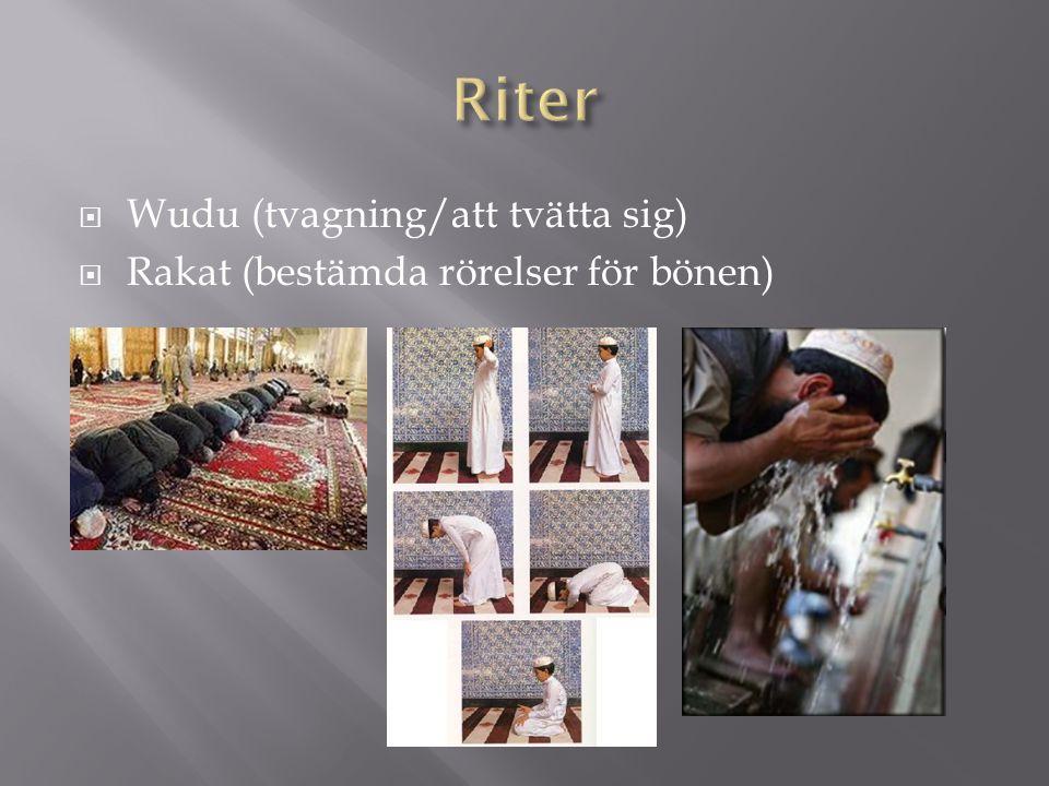 Riter Wudu (tvagning/att tvätta sig)