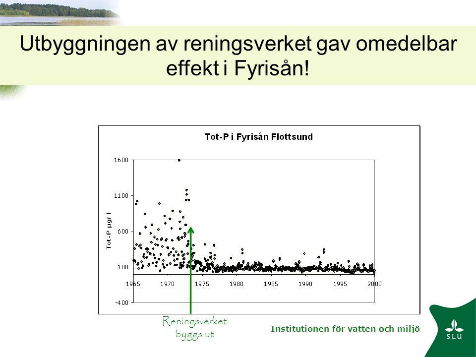 Utbyggningen av reningsverket gav omedelbar effekt i Fyrisån!