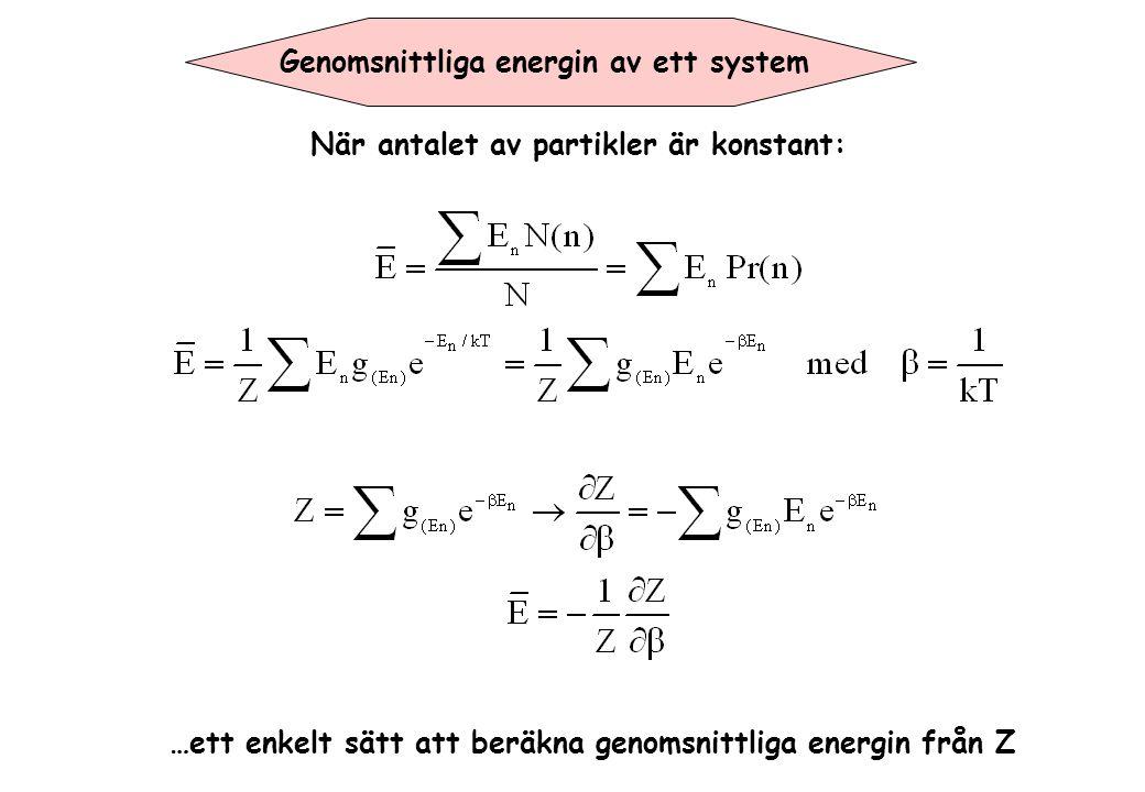 Genomsnittliga energin av ett system