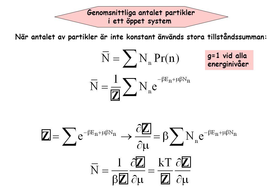 Genomsnittliga antalet partikler