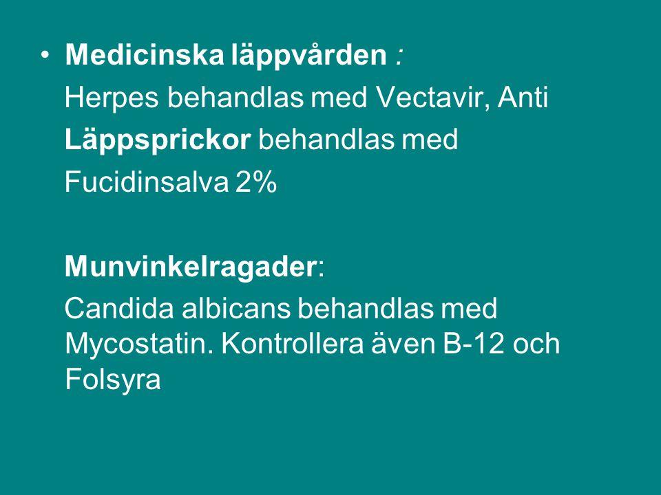 Medicinska läppvården :
