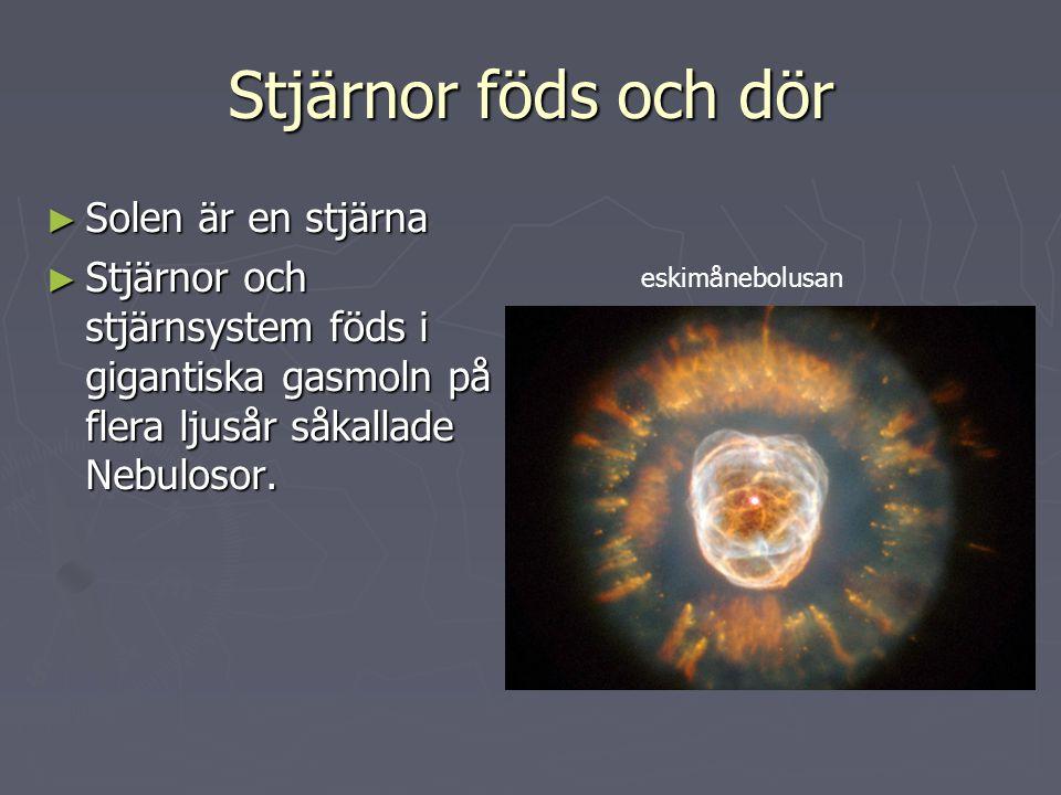 Stjärnor föds och dör Solen är en stjärna
