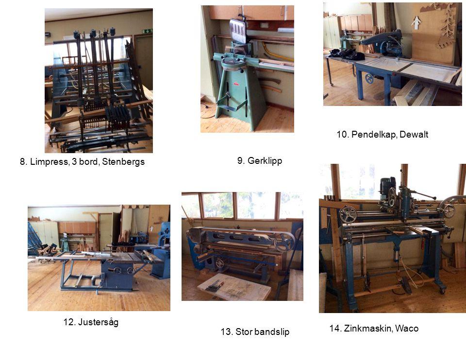 8. Limpress, 3 bord, Stenbergs