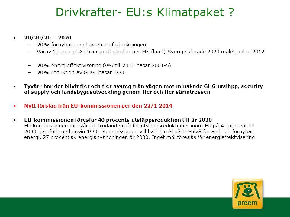 Drivkrafter- EU:s Klimatpaket