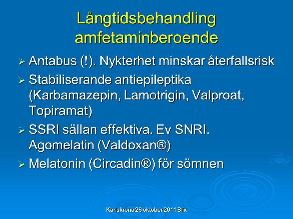Långtidsbehandling amfetaminberoende