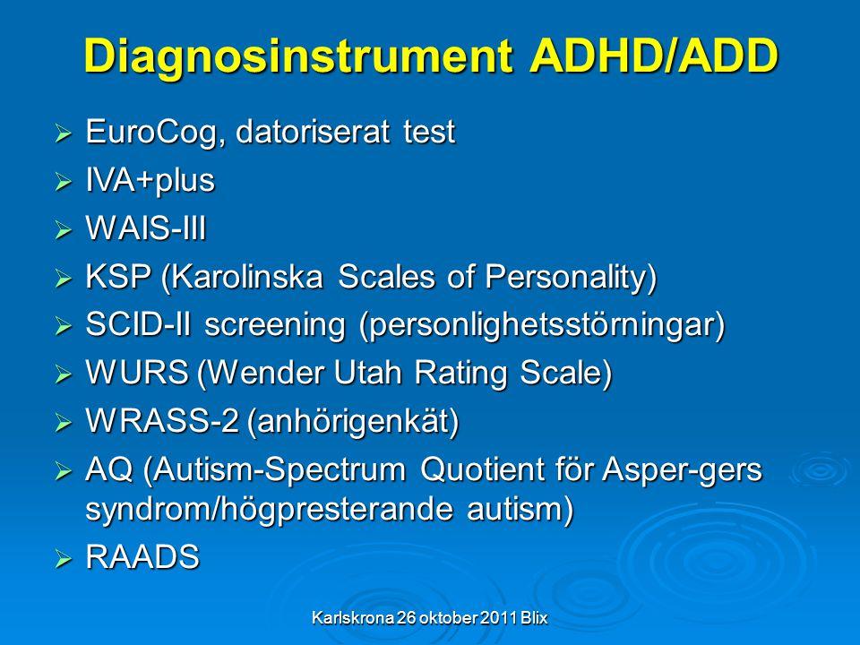 Diagnosinstrument ADHD/ADD