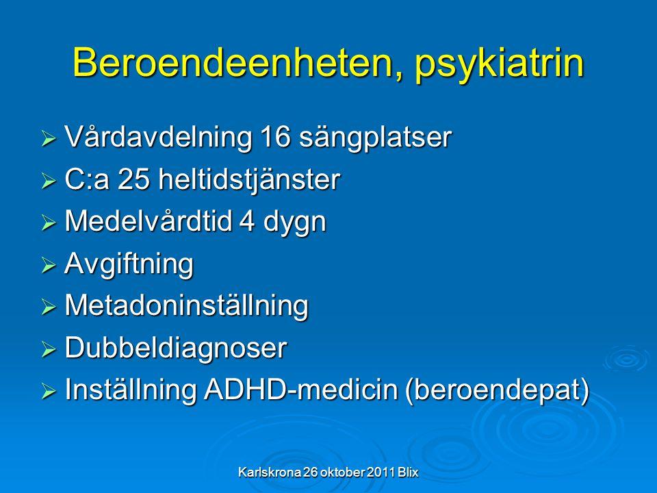 Beroendeenheten, psykiatrin