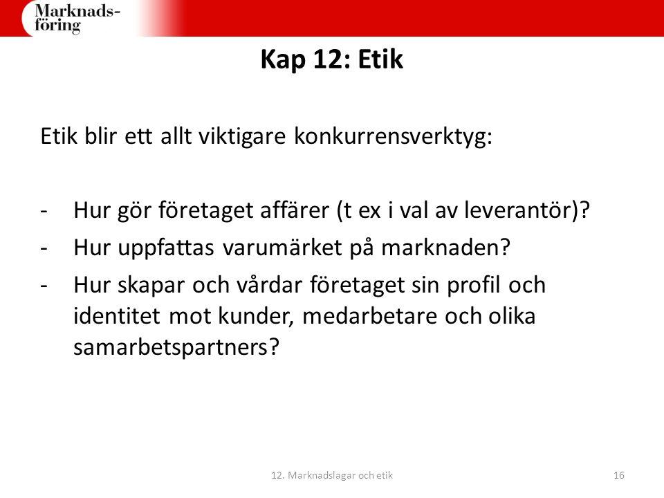 12. Marknadslagar och etik