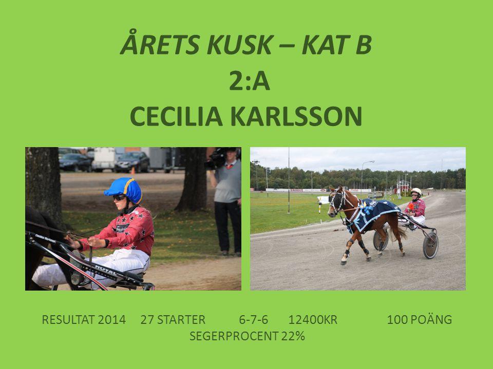 RESULTAT 2014 27 STARTER 6-7-6 12400KR 100 POÄNG