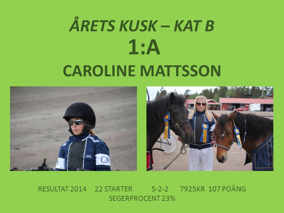 RESULTAT 2014 22 STARTER 5-2-2 7925KR 107 POÄNG