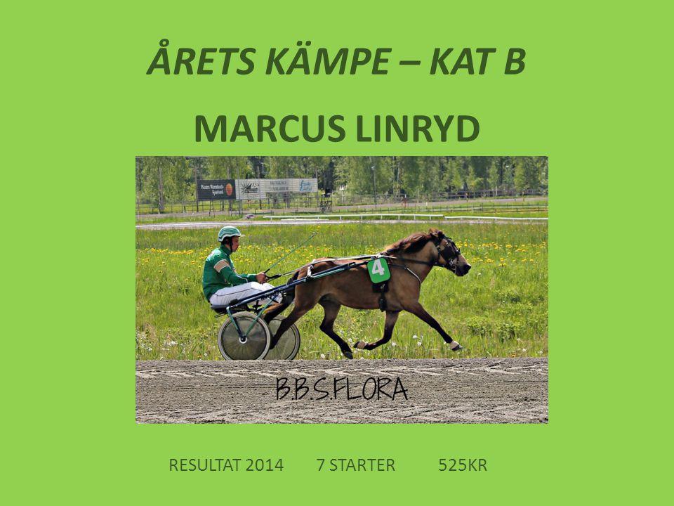 ÅRETS KÄMPE – KAT B MARCUS LINRYD