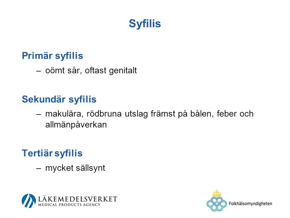 Syfilis Primär syfilis Sekundär syfilis Tertiär syfilis