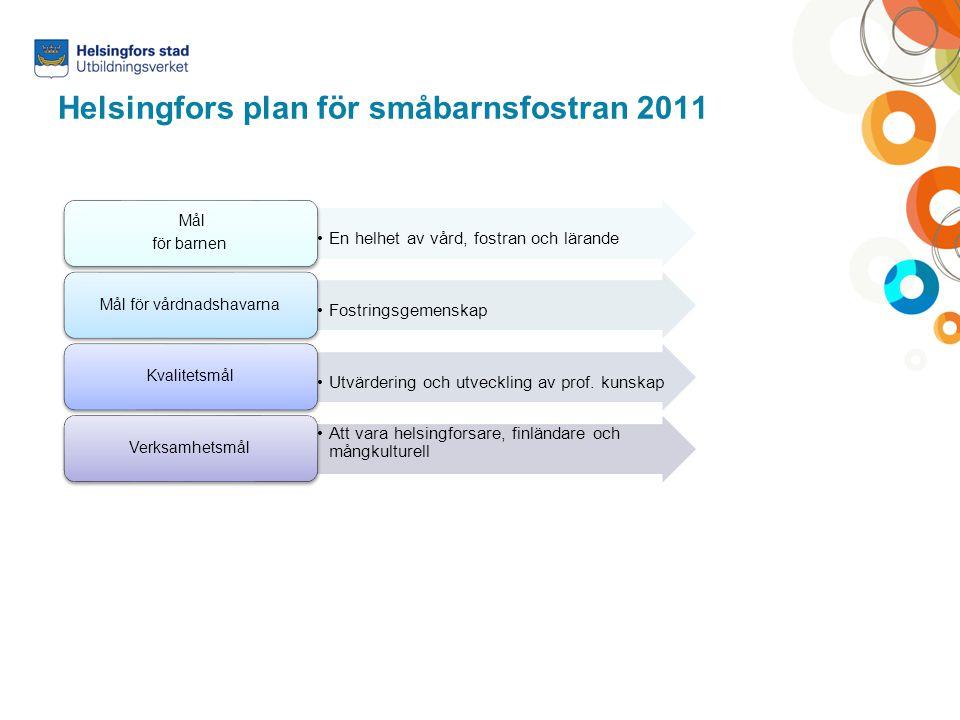 Helsingfors plan för småbarnsfostran 2011