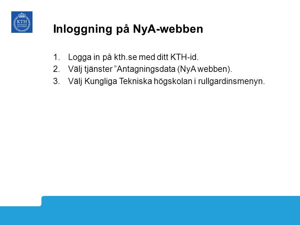 Inloggning på NyA-webben