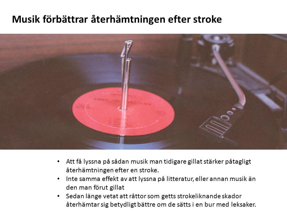 Musik förbättrar återhämtningen efter stroke