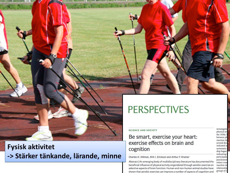 Fysisk aktivitet -> Stärker tänkande, lärande, minne
