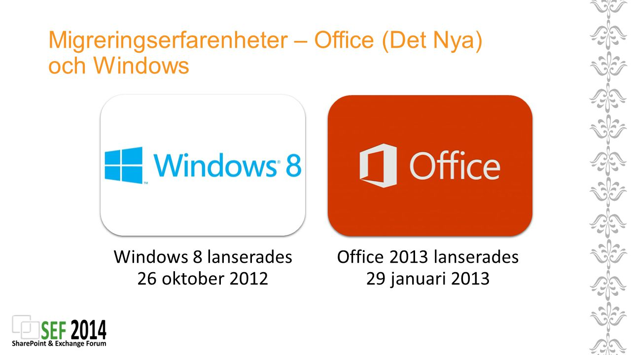 Migreringserfarenheter – Office (Det Nya) och Windows