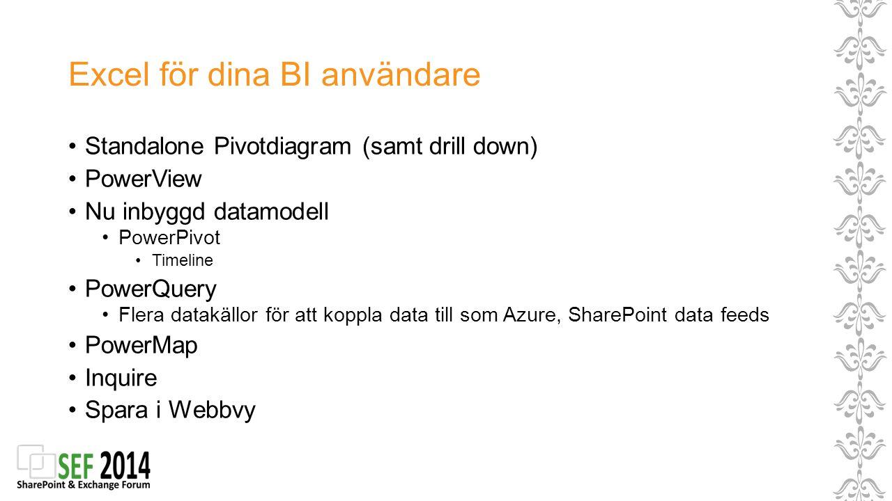 Excel för dina BI användare