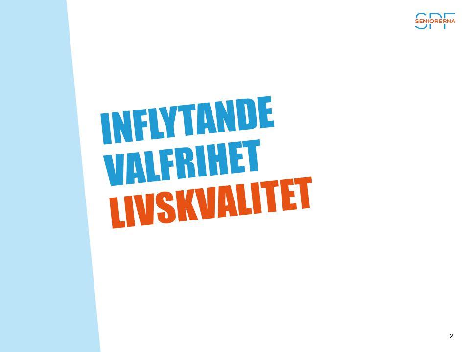 INFLYTANDE VALFRIHET LIVSKVALITET