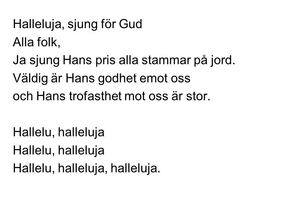 Halleluja, sjung för Gud
