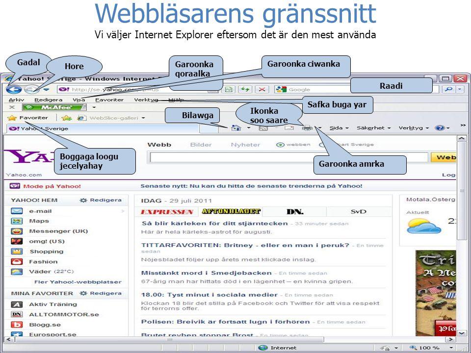 Webbläsarens gränssnitt