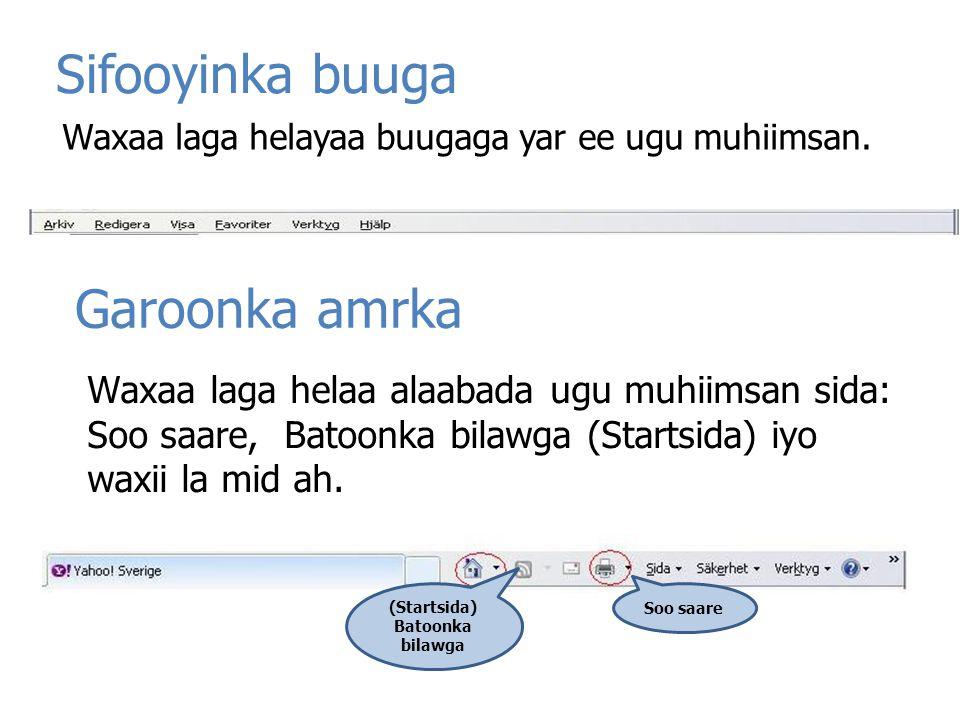 (Startsida) Batoonka bilawga