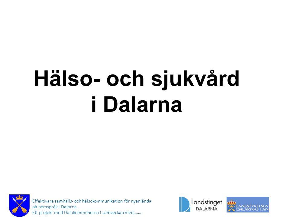 Hälso- och sjukvård i Dalarna