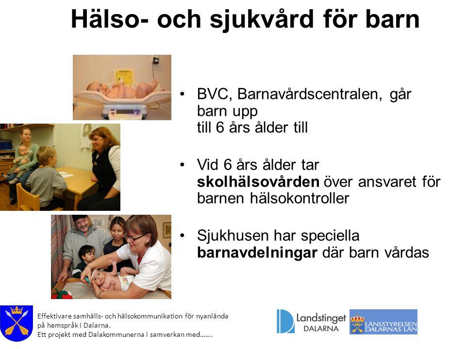 Hälso- och sjukvård för barn