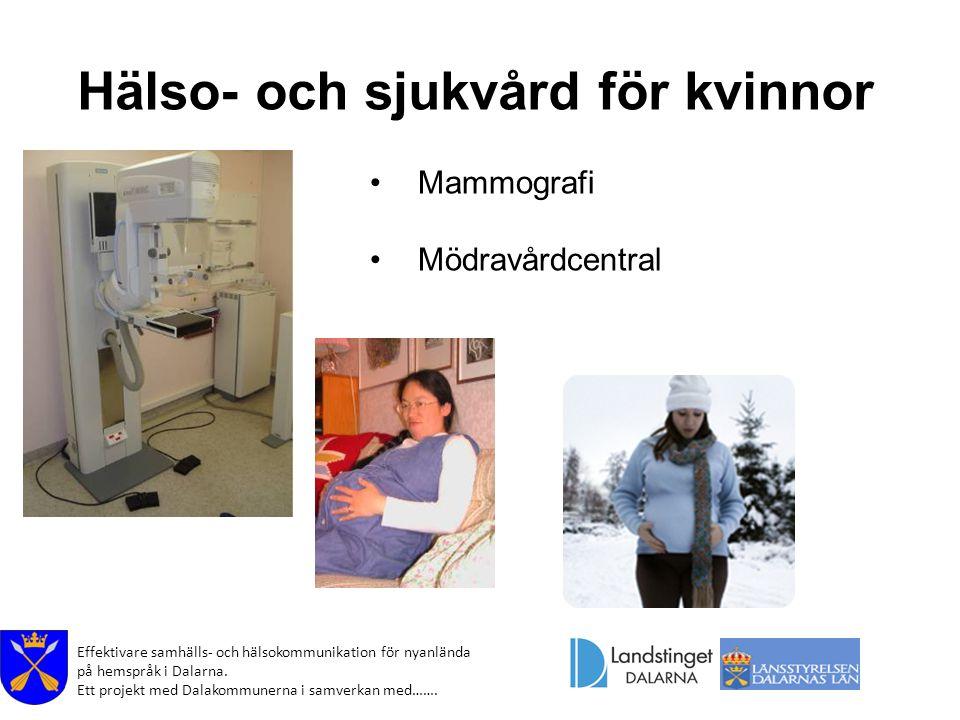 Hälso- och sjukvård för kvinnor