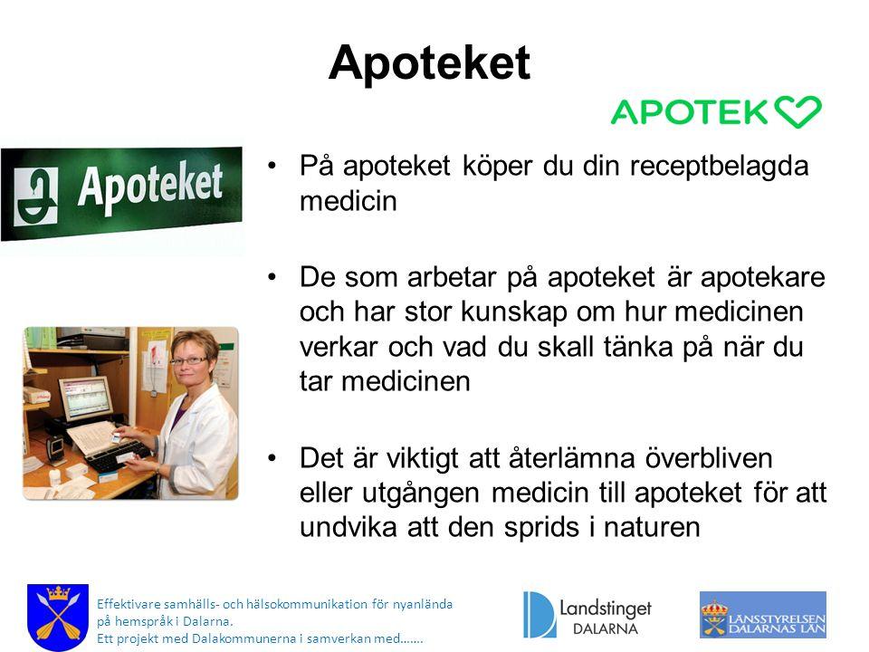 Apoteket På apoteket köper du din receptbelagda medicin