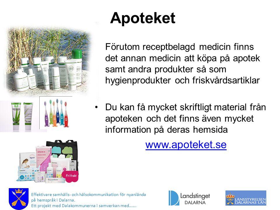 Apoteket www.apoteket.se