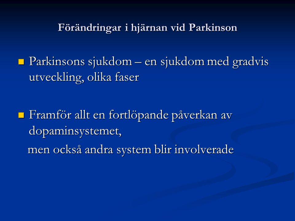 Förändringar i hjärnan vid Parkinson