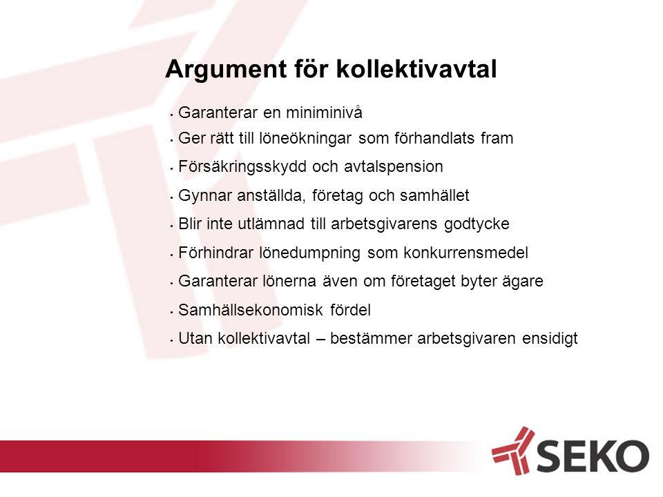 Argument för kollektivavtal