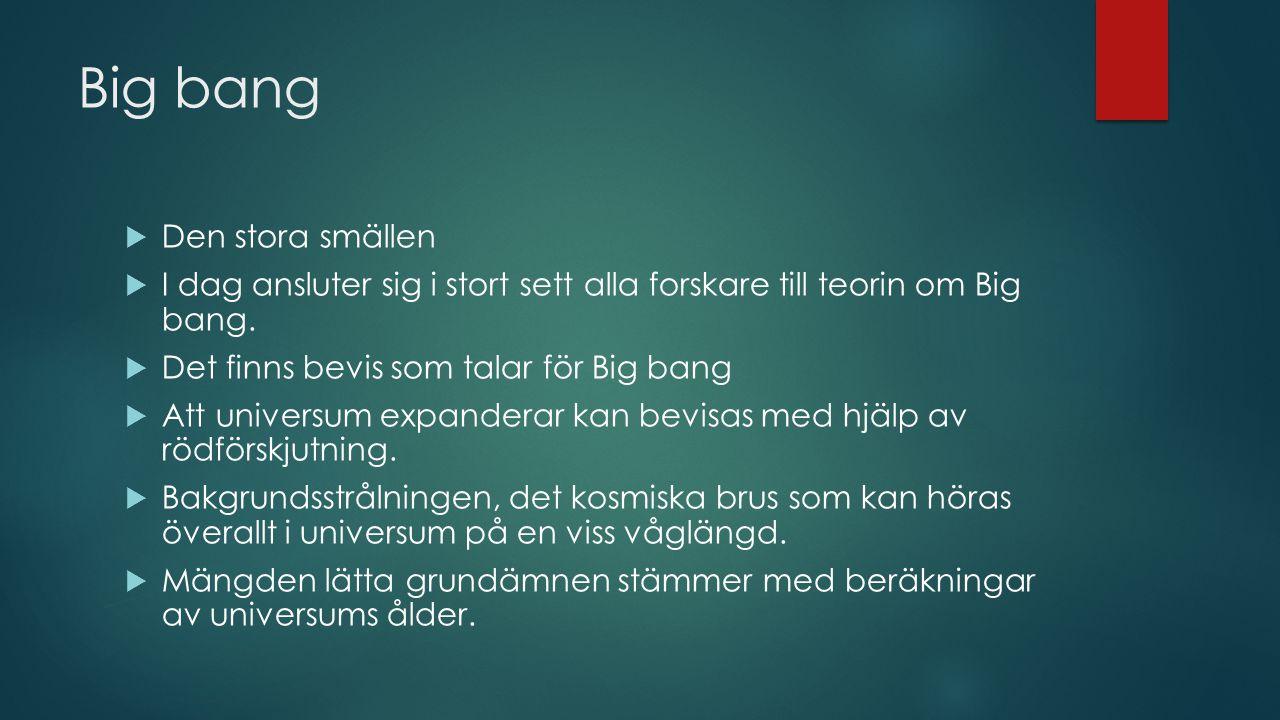 Big bang Den stora smällen
