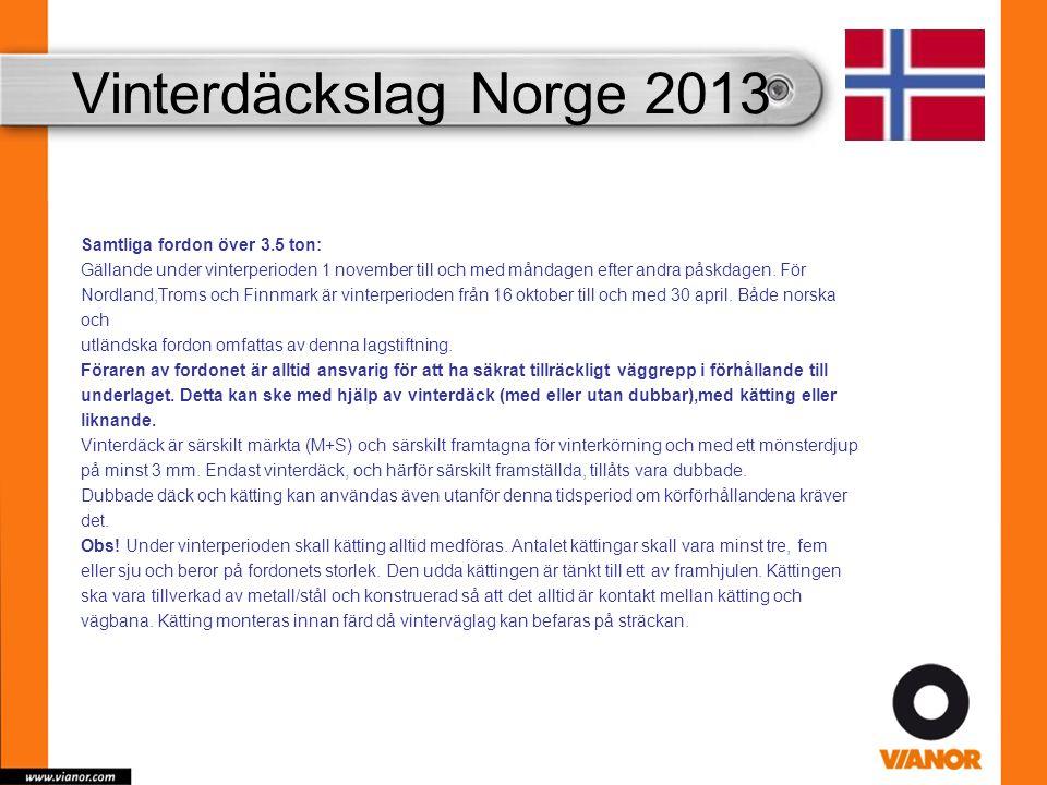 Vinterdäckslag Norge 2013