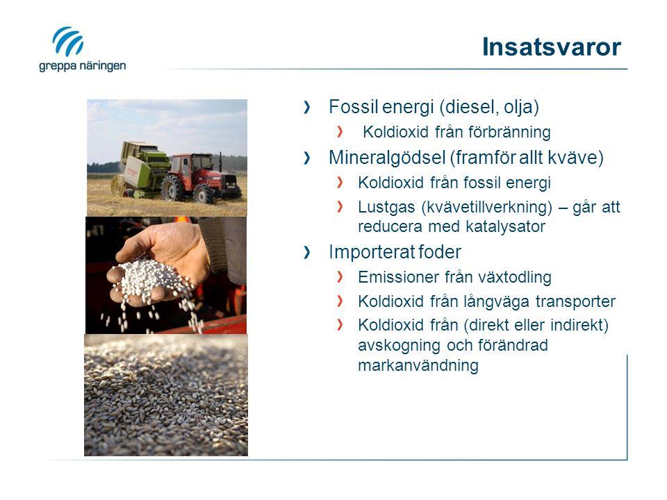 Insatsvaror Fossil energi (diesel, olja)