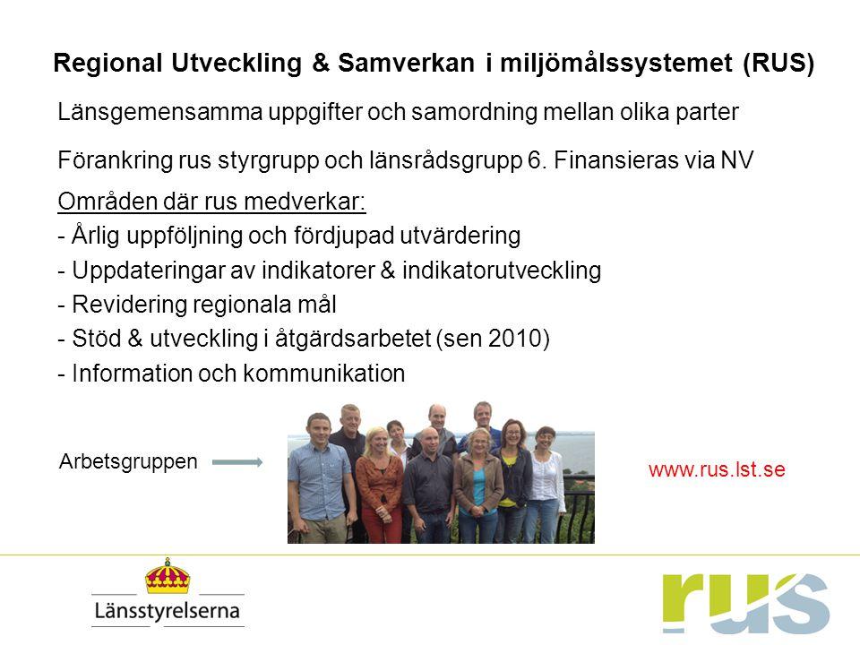 Regional Utveckling & Samverkan i miljömålssystemet (RUS)
