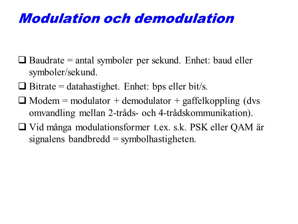 Modulation och demodulation