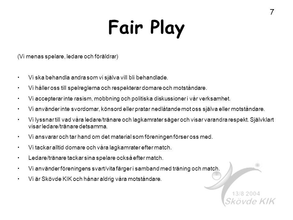 Fair Play (Vi menas spelare, ledare och föräldrar)