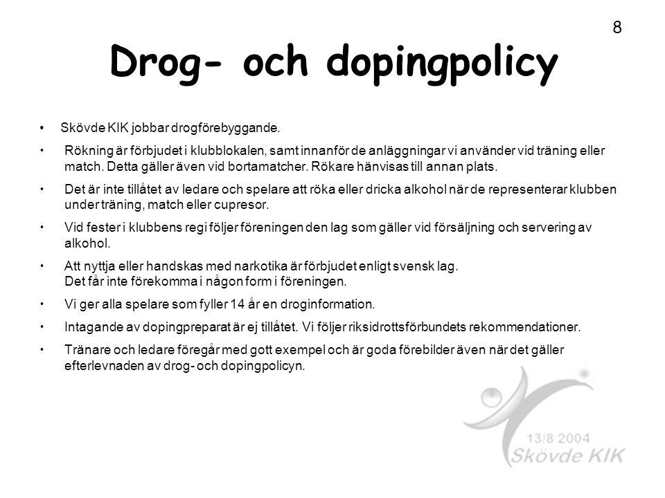 Drog- och dopingpolicy