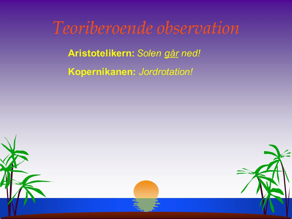 Teoriberoende observation