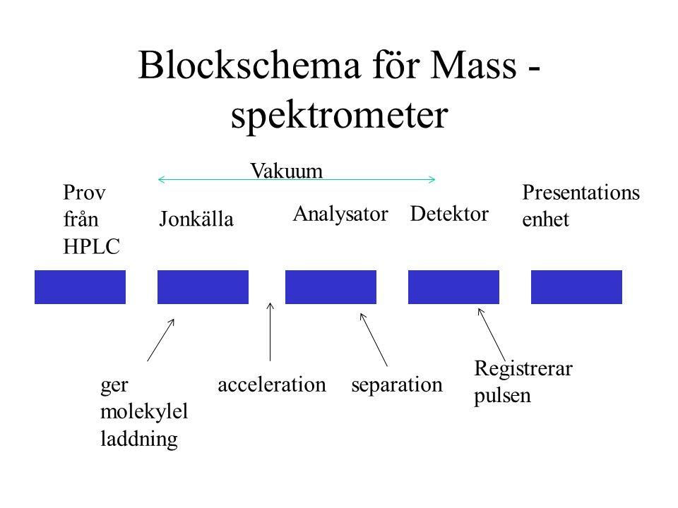 Blockschema för Mass -spektrometer