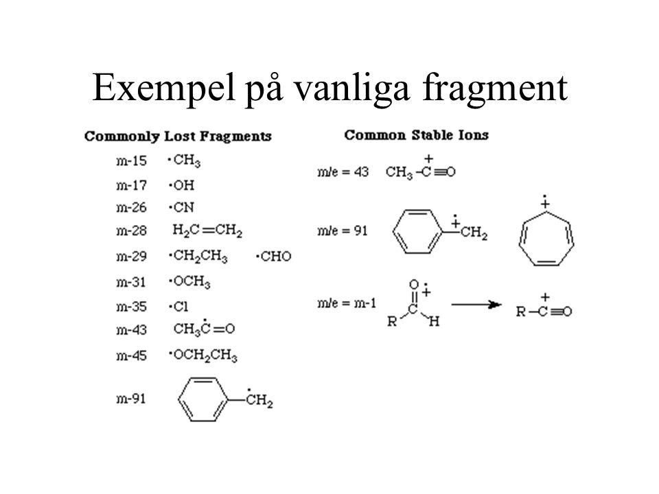 Exempel på vanliga fragment