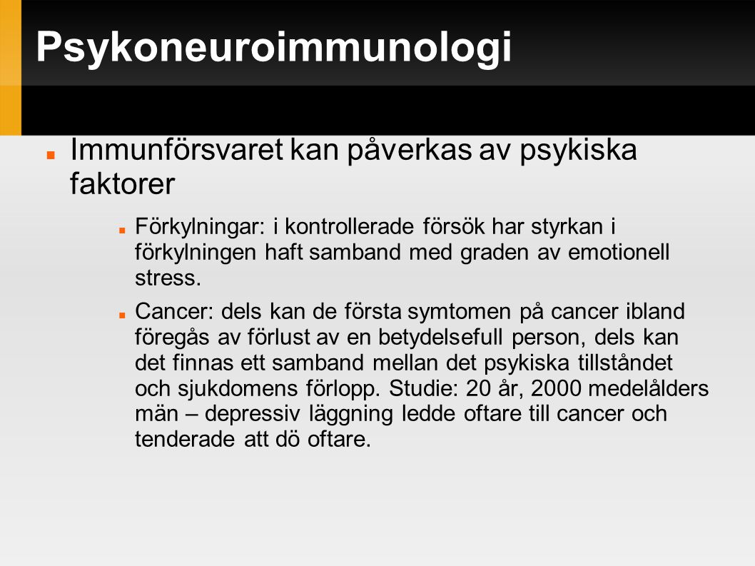 Psykoneuroimmunologi