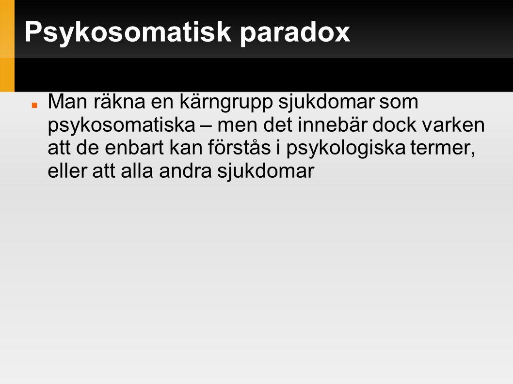 Psykosomatisk paradox